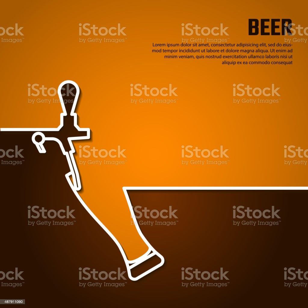 Beer by Line Bg vector art illustration