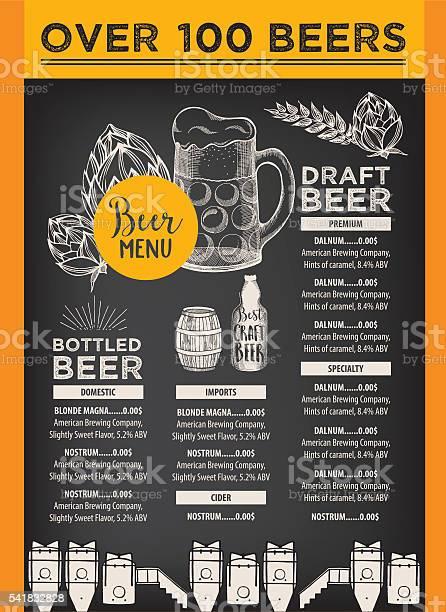 Beer cafe menu template design vector id541832828?b=1&k=6&m=541832828&s=612x612&h=8j7djfkq5l8vanpp tbcbjj2oyfliuy bl7omzowu7c=