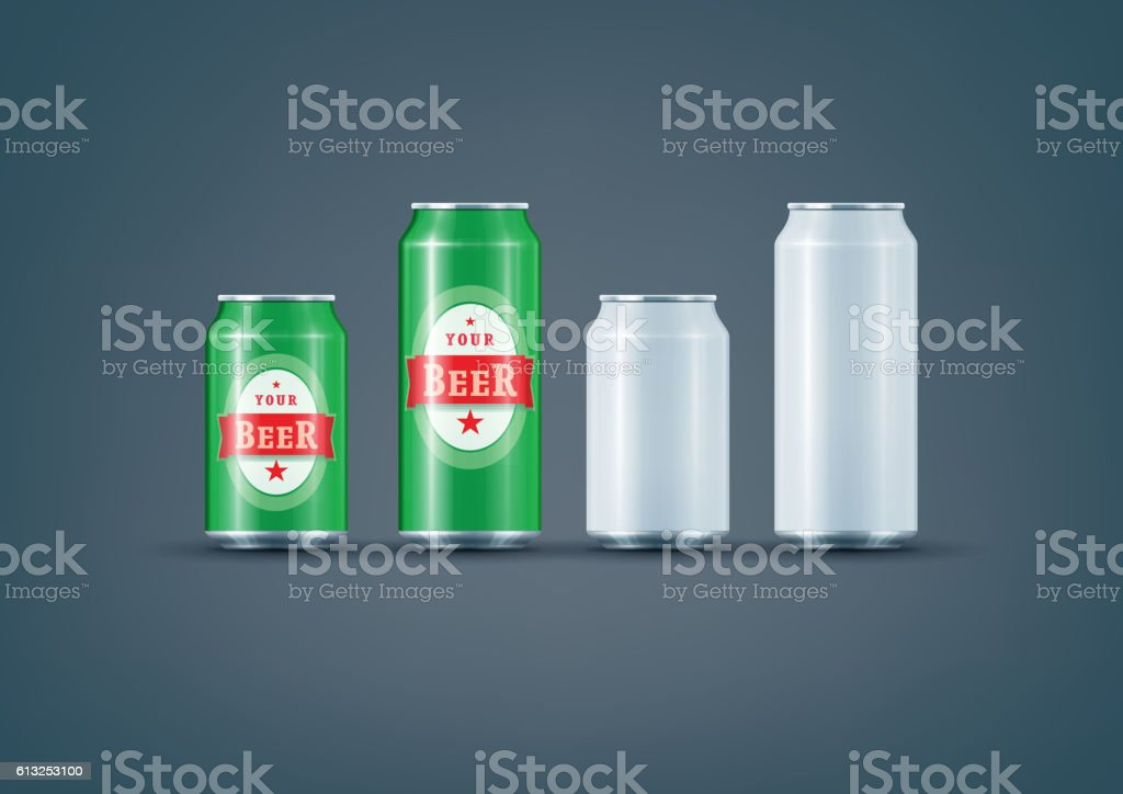 Beer Can 001 copy-01 vector art illustration
