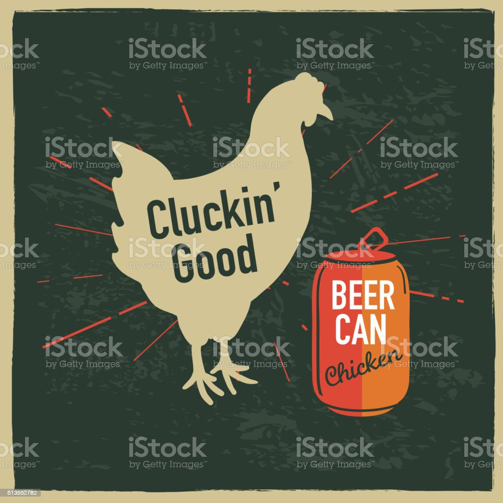 Beer can chicken themed label design with text royalty-free beer can chicken themed label design with text stock vector art & more images of barbecue