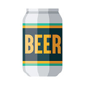 istock Beer Can Icon on Transparent Background 1283752047