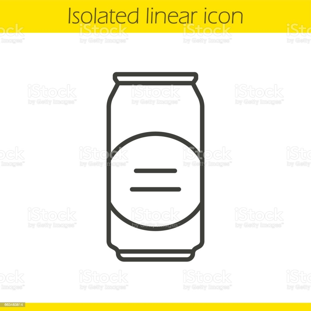 Beer can icon vector art illustration