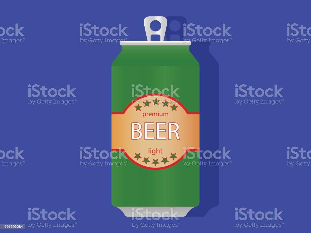 Bier kan pictogramvectorkunst illustratie