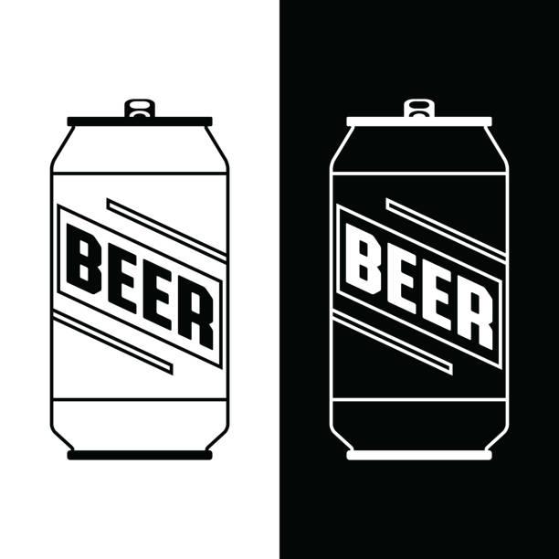 ilustrações de stock, clip art, desenhos animados e ícones de beer can icon - latão
