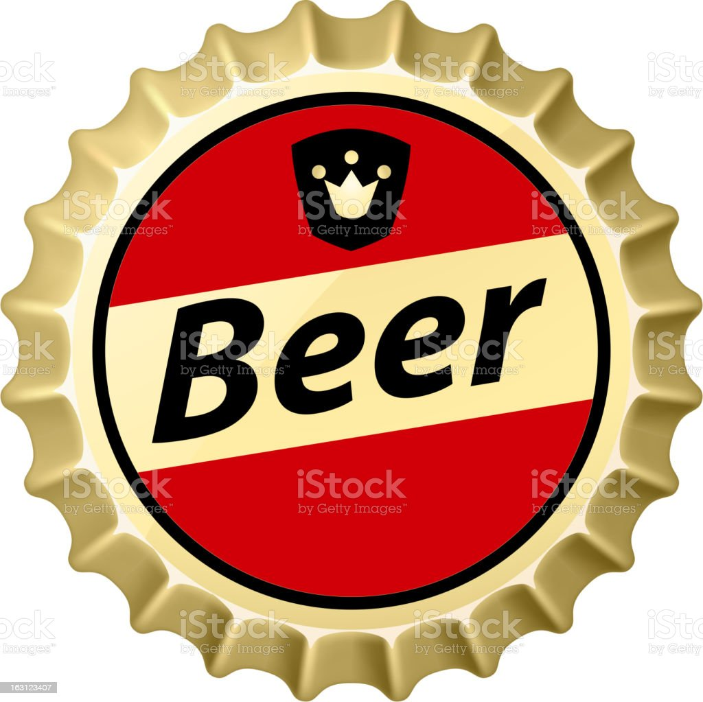 beer cap template design on white background stock vector art more