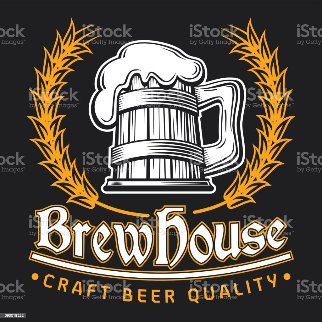 Beer Clip Art Template vector art illustration