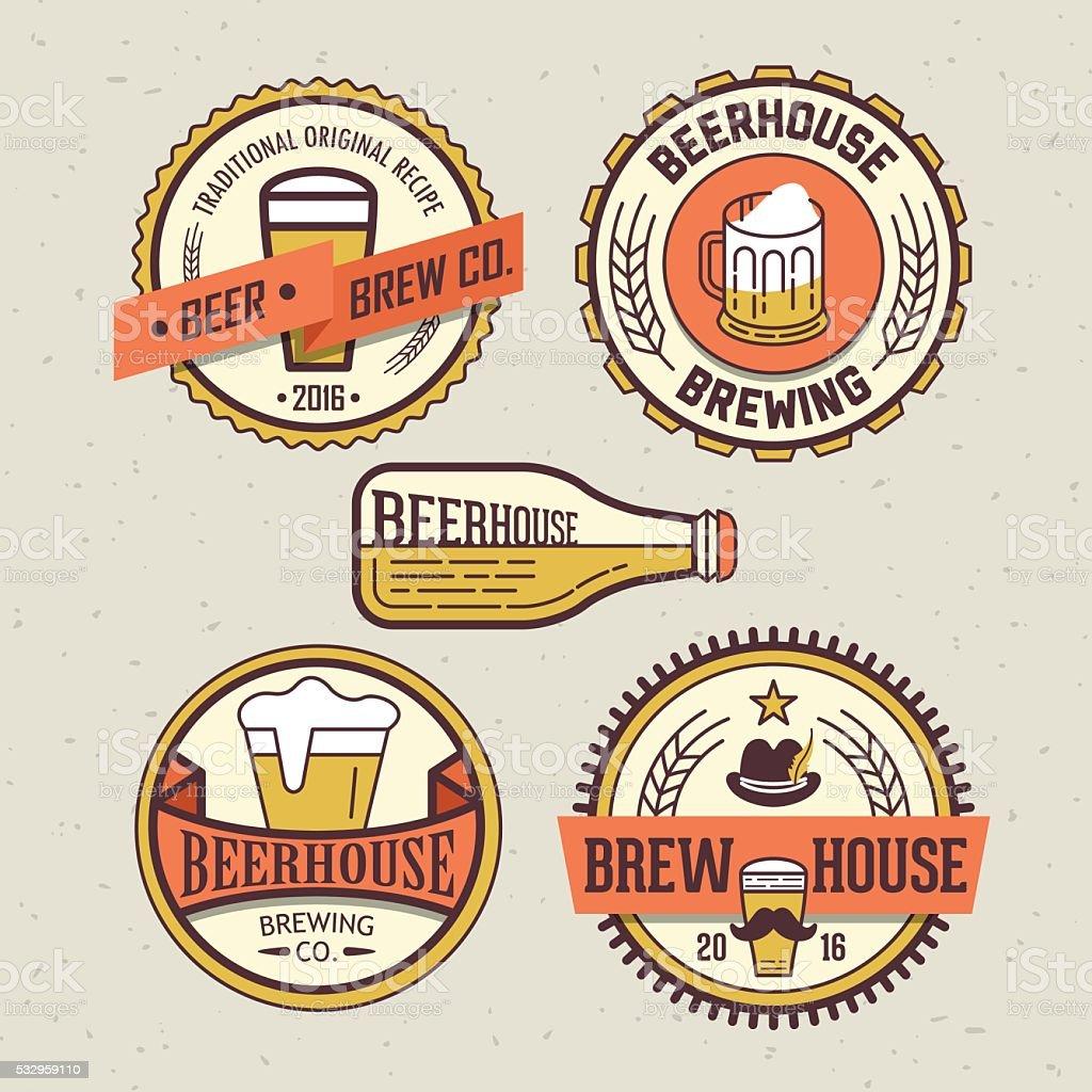 Beer Design Template For Pub Bar Or Restaurant Stock Vector Art ...