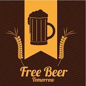beer design over lineal background vector illustration