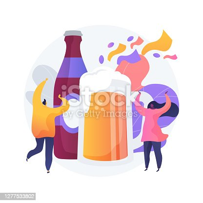 Beer fest abstract concept vector illustration.