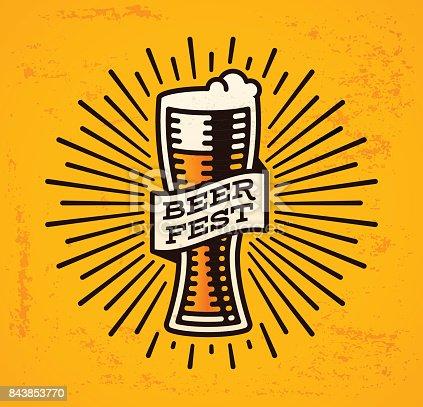 Beer fest symbol oktoberfest insignia.