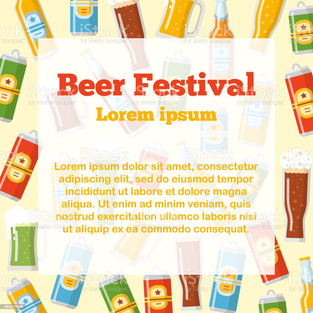 Beer festival flat template - Royalty-free Affectionate stock vector