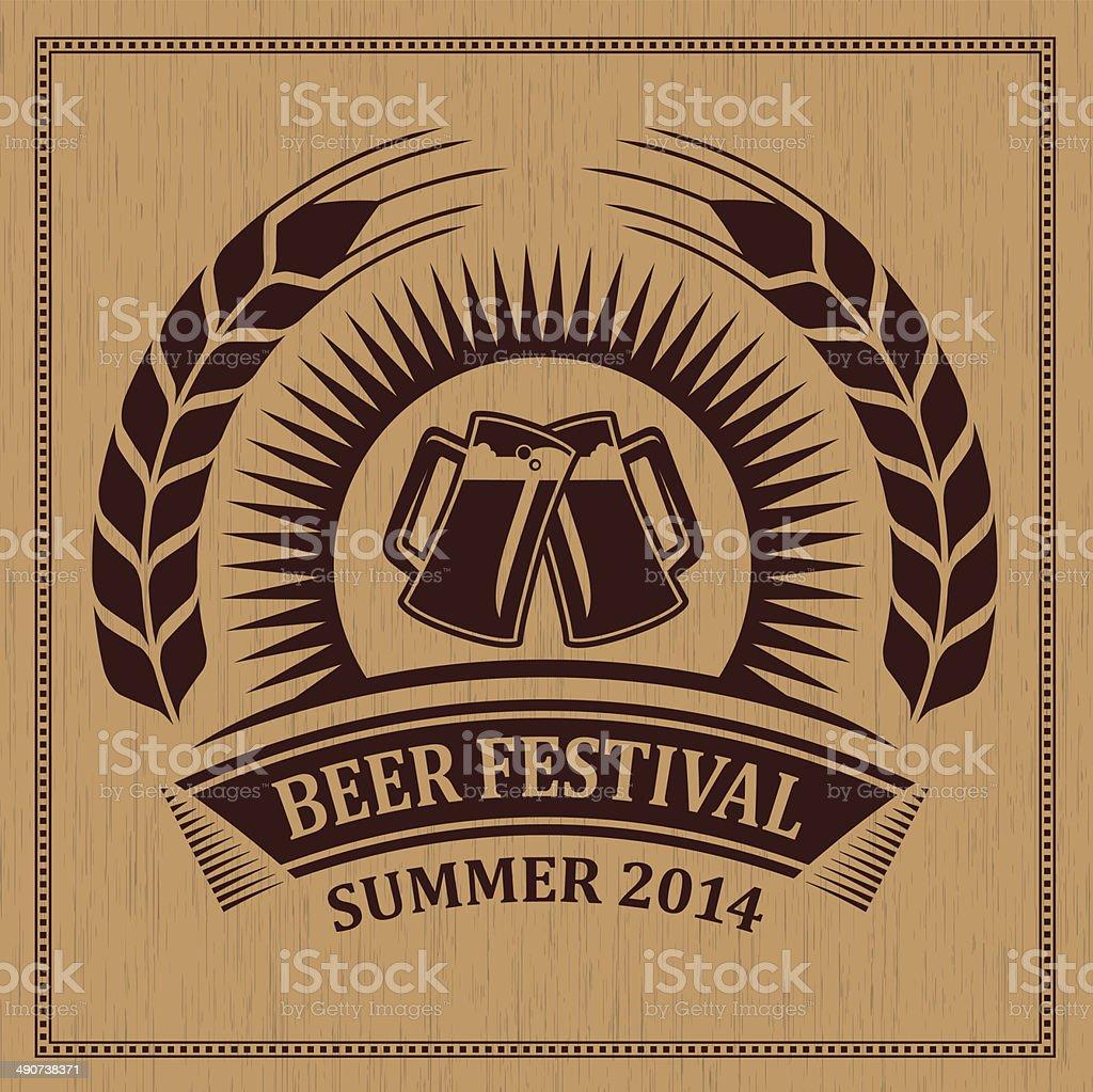 Beer festival icon symbol - vector design vector art illustration