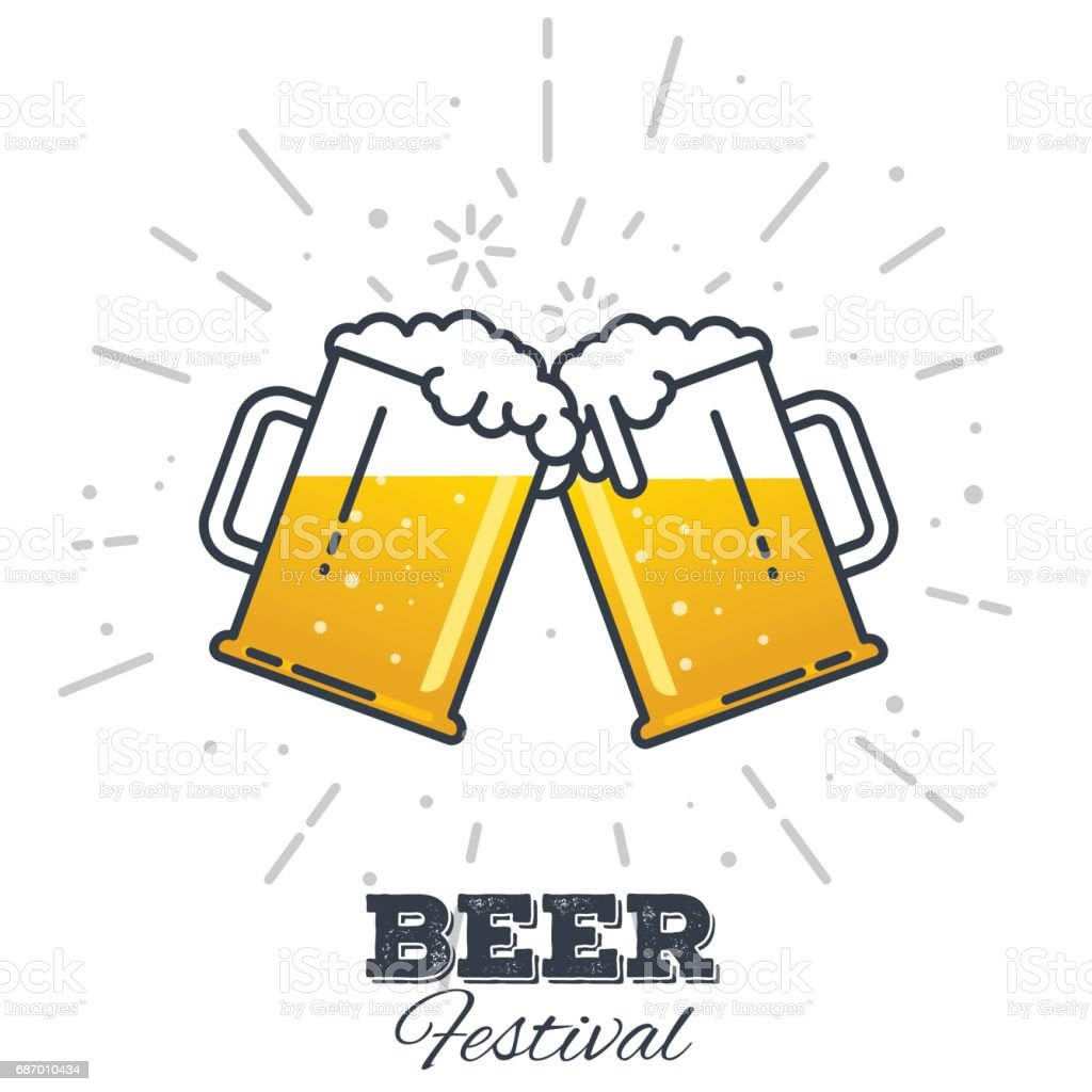 Beer festival icon - illustrazione arte vettoriale