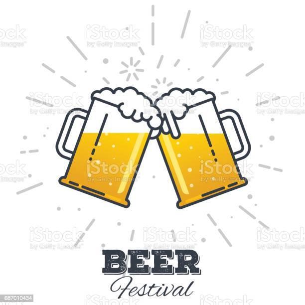 맥주 축제 아이콘 0명에 대한 스톡 벡터 아트 및 기타 이미지