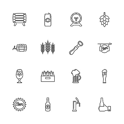Beer - Flat Vector Icons