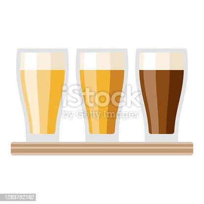 istock Beer Flight Icon on Transparent Background 1283752162