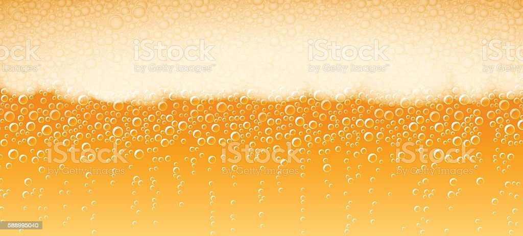 Beer Foam Background Lager Light Bitter vector art illustration