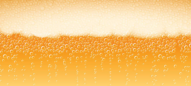Beer Foam Background Lager Light Bitter​​vectorkunst illustratie