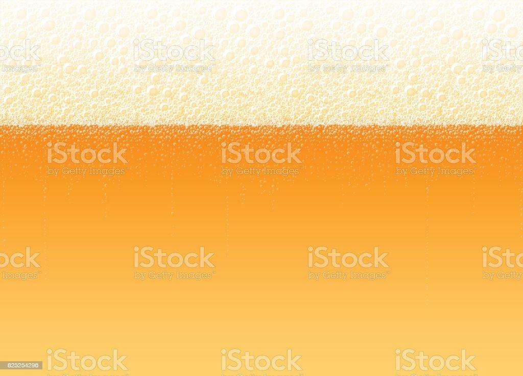 Beer Foam Bubbles Background Realistic Lager Light Bitter Drink vector art illustration