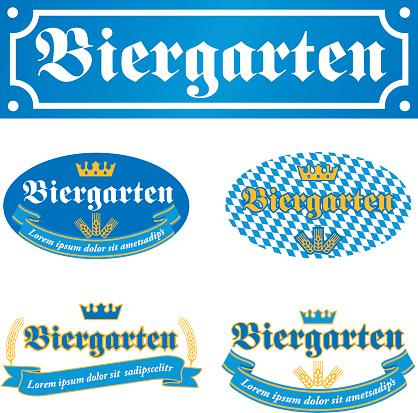 Beer garden label