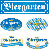 Biergarten Label. EPS10 layers (removeable) and alternate formats (hi-res jpg, pdf).