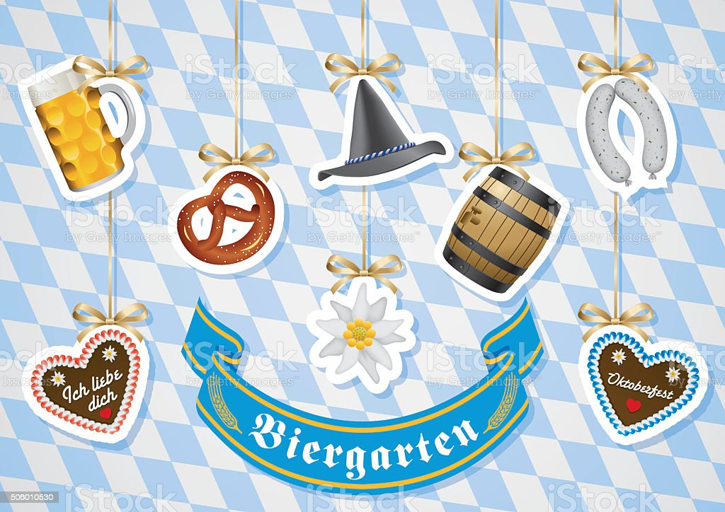 Beer Garden vector art illustration