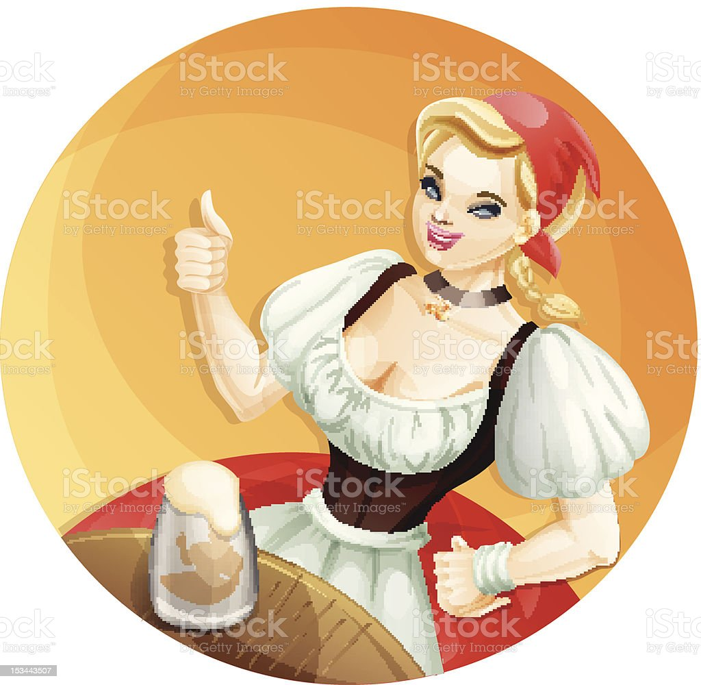 beer girl royalty-free stock vector art