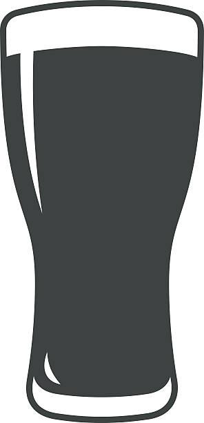 Beer glass icon iweb sign symbol logo label vector art illustration