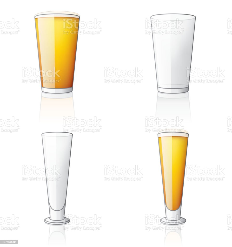 Beer Glass Icon Set. Design Elements royalty-free beer glass icon set design elements stock vector art & more images of alcohol
