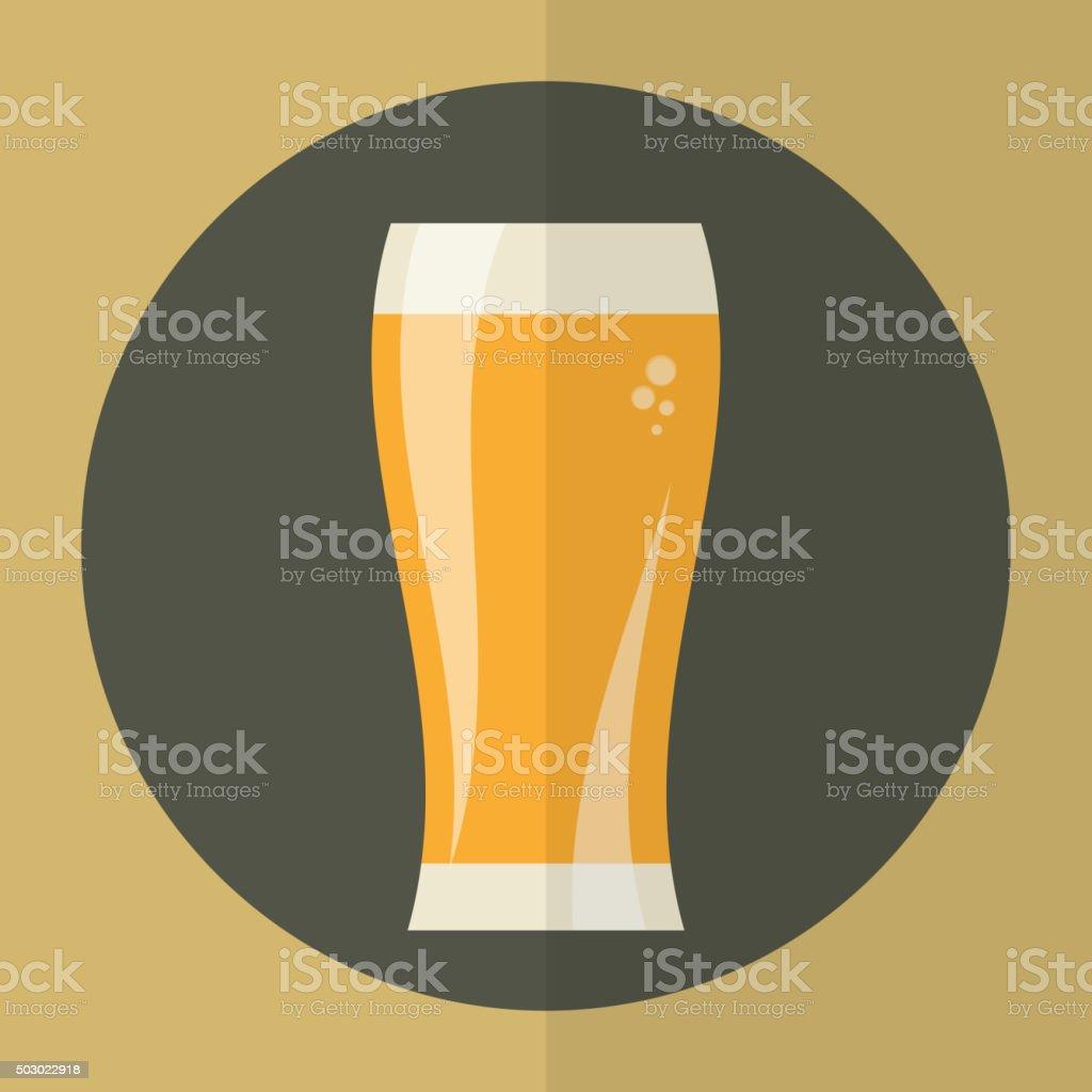 Beer glass icon. vector art illustration
