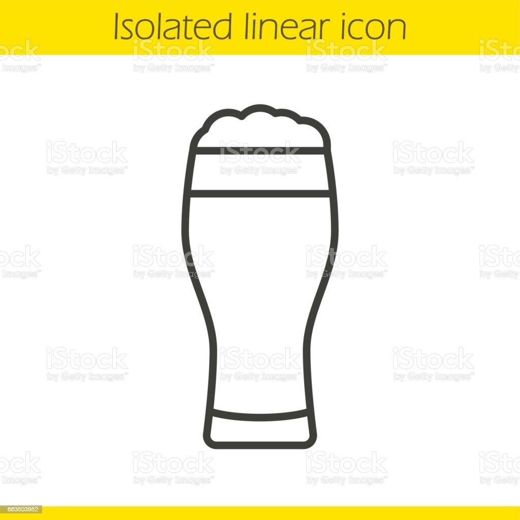 Beer glass icon vector art illustration
