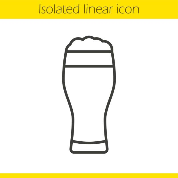 Beer glass icon vector art illustration