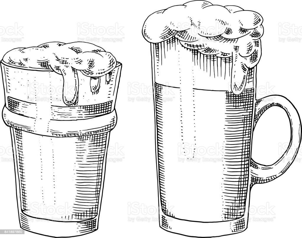 Beer glass mug or bottle of oktoberfest engraved in ink hand drawn beer glass mug or bottle of oktoberfest engraved in ink hand drawn in old biocorpaavc Gallery
