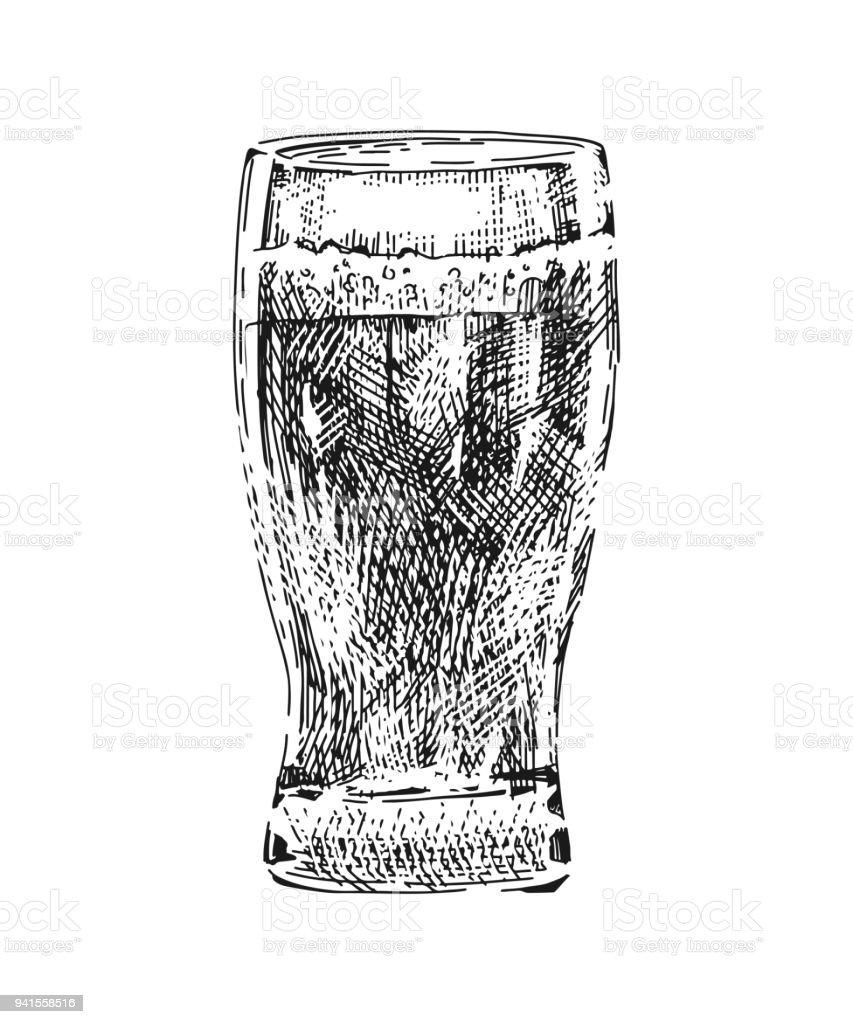 Bierglas Real Stock Vektor Art und mehr Bilder von Alkoholisches ...