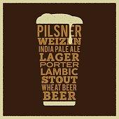 Beer Glass - Retrò style