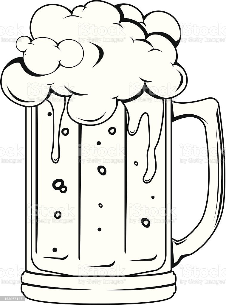 Beer Glass royalty-free beer glass stock vector art & more images of alcohol