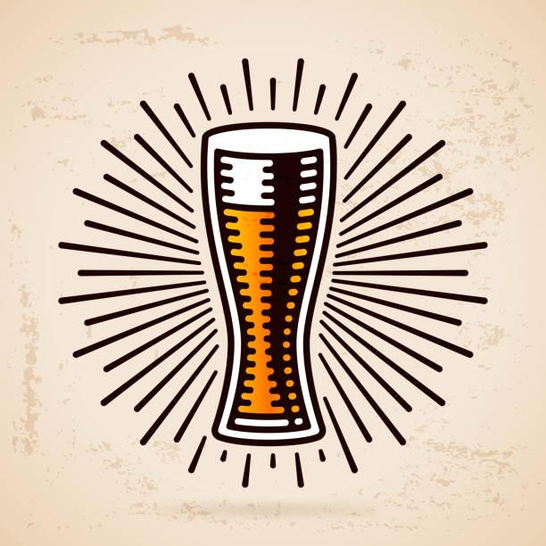 Copo de Cerveja - ilustração de arte em vetor