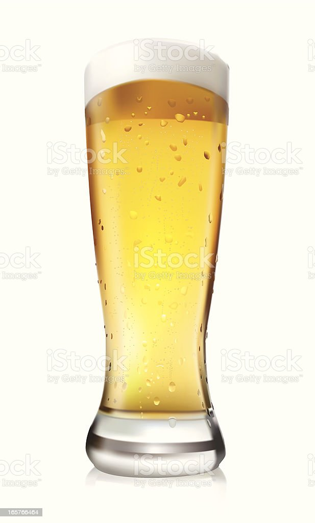 Beer Glass - Vector Illustration royalty-free beer glass vector illustration stock vector art & more images of alcohol