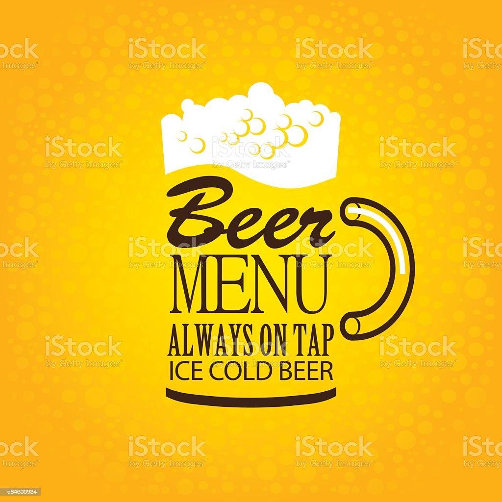 beer glasses from the inscriptions vector art illustration
