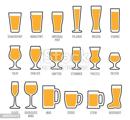 Beer Glasses Icon Set