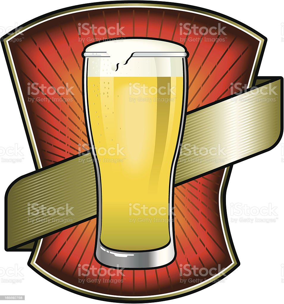 beer gold label royalty-free stock vector art