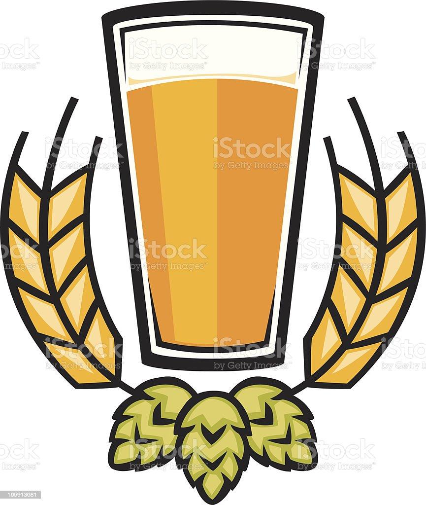 beer graphic vector art illustration