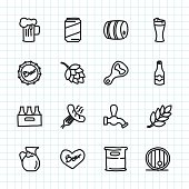 Beer Icon Hand Drawn Series Vector EPS File.