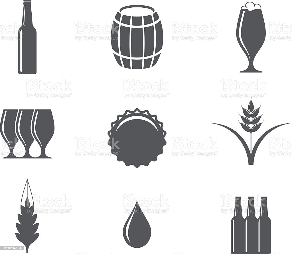 Beer. Icon set