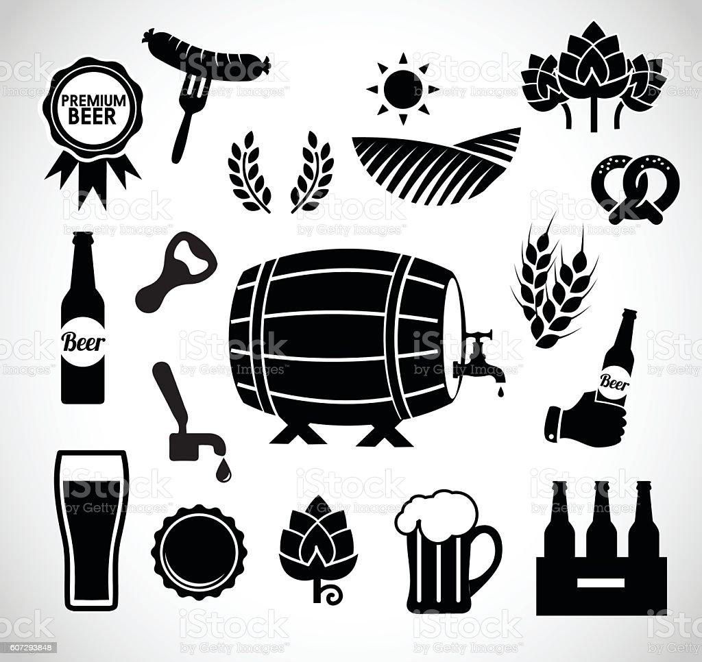 Beer icon set vector illustration vector art illustration