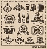 Beer Icon Vector Design Set