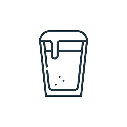 beer icon vector from cinco de mayo concept. Thin line illustration of beer editable stroke. beer linear sign for use on web and mobile apps, logo, print media..