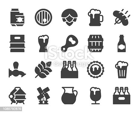 Beer Icons Vector EPS File.