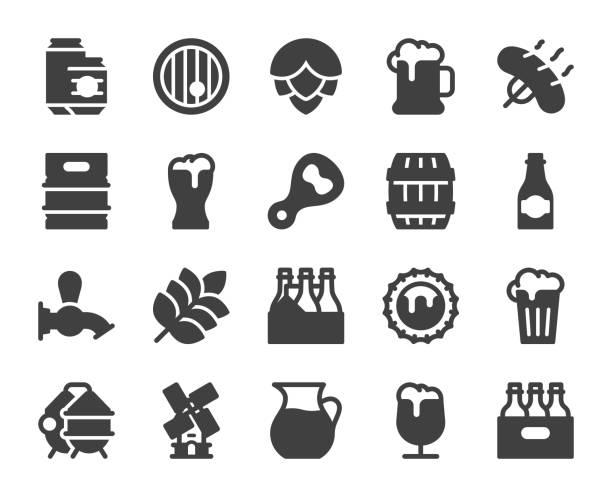 Bier - Symbole – Vektorgrafik