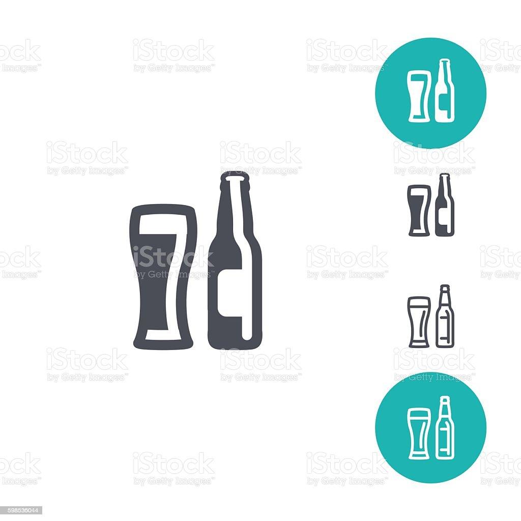 Icônes de la bière icônes de la bière – cliparts vectoriels et plus d'images de alcool libre de droits